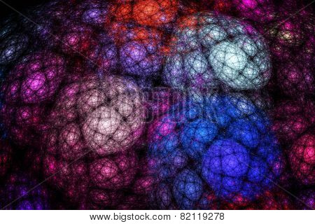 Large Structure That Looks Like Colored Clouds. Abstract Fractal Texture.