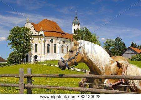 UNESCO world heritage Wieskirche in Bavaria