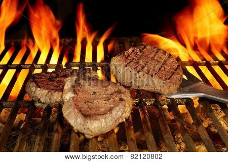 Beefsteaks On The Flaming Grill