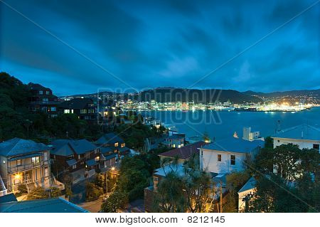 Wellington And Harbour At Night