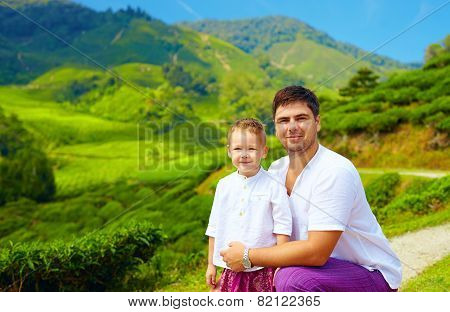 Family Portrait On Tea Plantation, Cameron Highlands