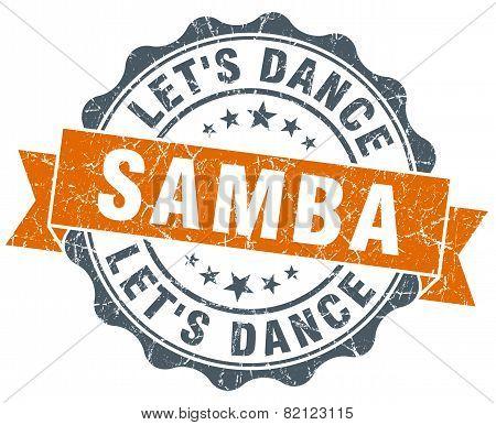 Samba Vintage Orange Seal Isolated On White
