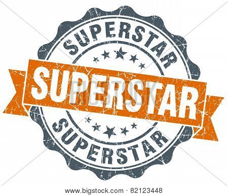 Superstar Vintage Orange Seal Isolated On White