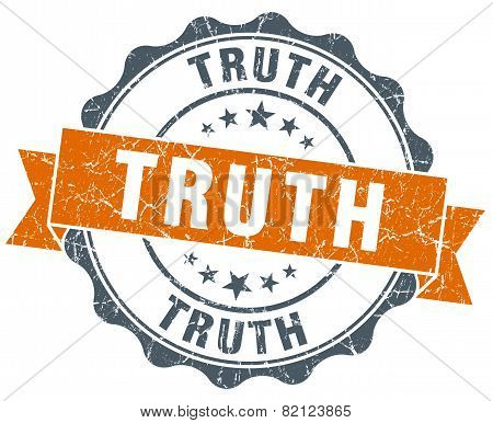 Truth Vintage Orange Seal Isolated On White