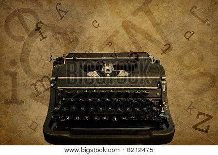 Typewriter Grunged Background for Text