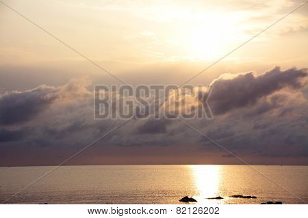 Sunrise over Lake Malawi after a Stormy Night