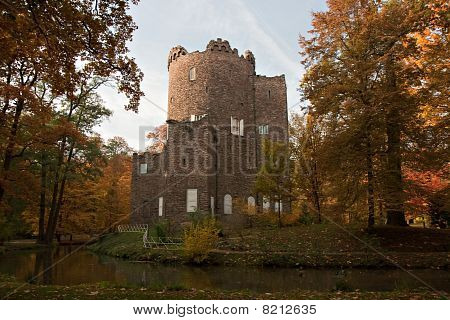 Ruined Castle In Autumn