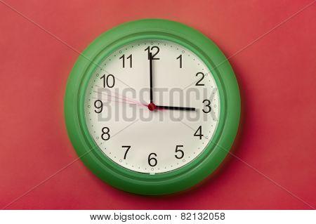 Almost 3 O'clock.