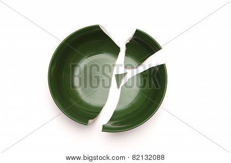 Broken Bowl In Pieces.