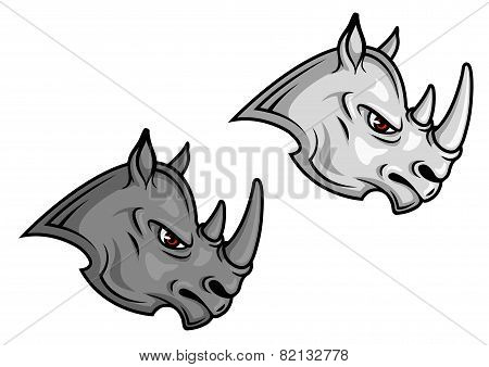 Cartoon rhino mascots