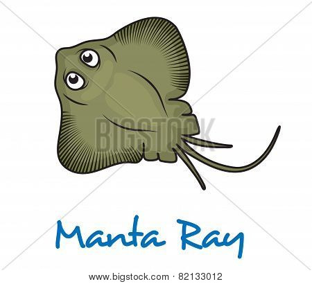 Cartoon manta ray