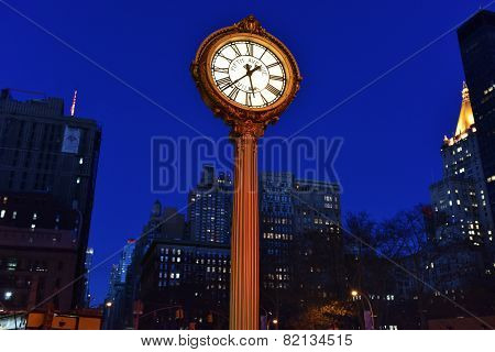 Flatiron Building And Fifth Avenue Clock