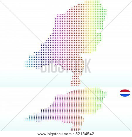 Map Of Kingdom Of The Netherlands With With Dot Pattern