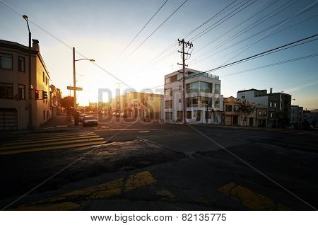 Sunset in San Francisco