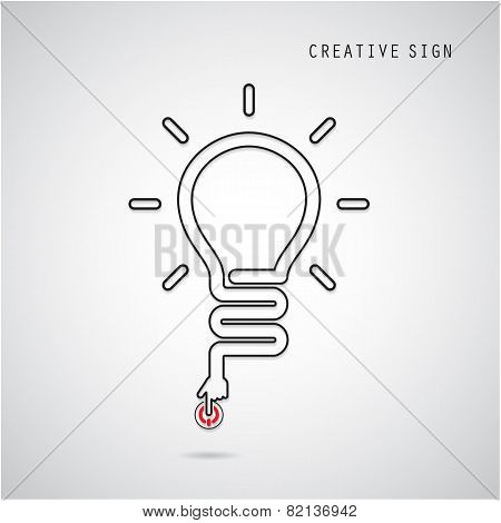Turn On Creative Light Bulb Concept.