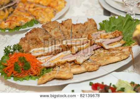 Cut Appetizer On Plate
