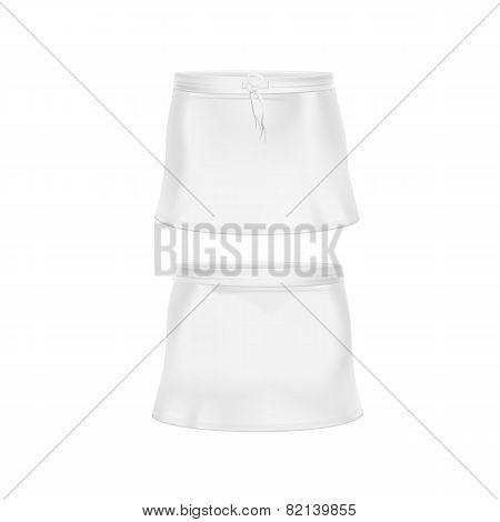 Vector White Skirt Isolated on Background
