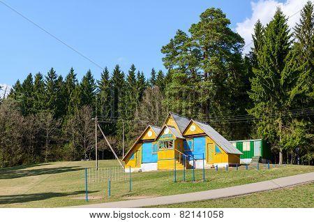 Biathlon Base At The Forest Edge