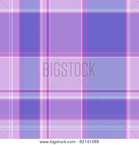 Gingham Pattern In Blue, Violet