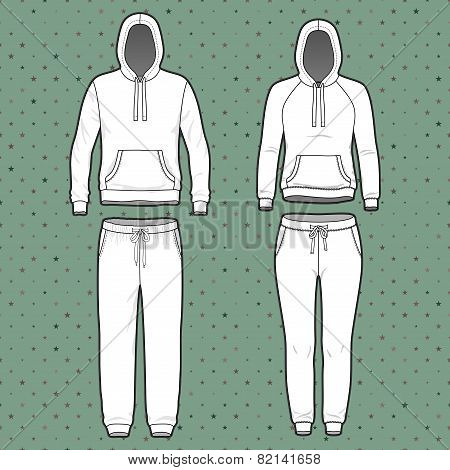 Hoodi And Sweatpants Set