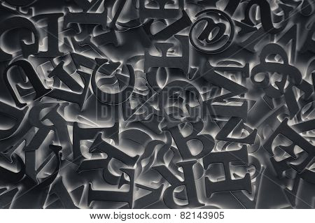 Abstract Background With Black Letters