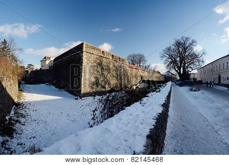 Medieval Uzhgorod Castle - Extensive Citadel On A Hill In Uzhhorod With Big Moat ,Ukraine