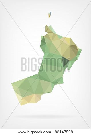 Low Poly map of Oman