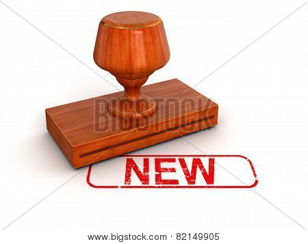 Rubber Stamp New (clipping path included)