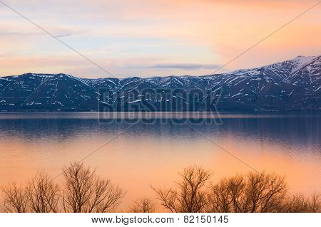 Lake Sevan Spring Sunset