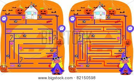 Solved Halloween maze game