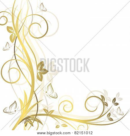 Floral background with ornate elements