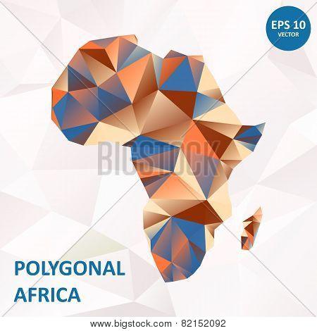 Vector poligonal Africa
