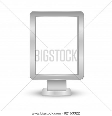 Outdoor blank billboards - Vector Illustration objects isolated on white background. Eps 10