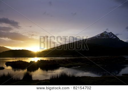 Sunset in Tierra del Fuego, Argentina