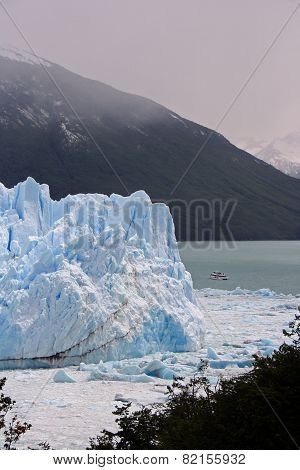 Landscape at the glacier Perito Moreno, Argentina