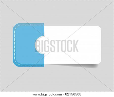 vector paper tag / labels / banner in the pockets