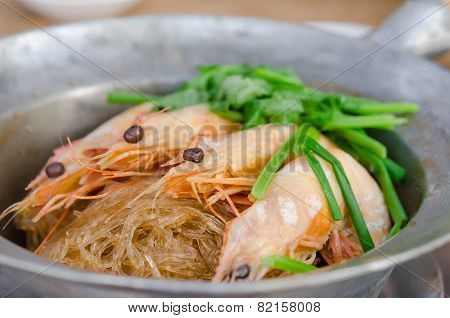 Shrimp Baked With Vermicelli