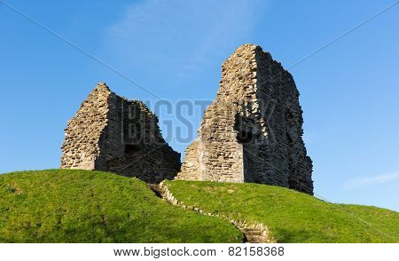Christchurch castle ruins Dorset England UK of Norman origin and originally motte and bailey