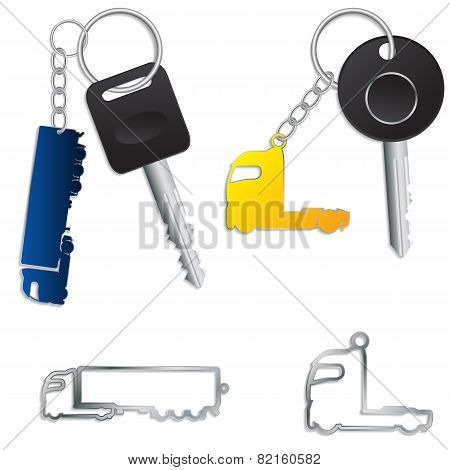 Semi Truck Key Holders