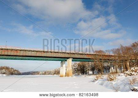 Winter view of  bridge