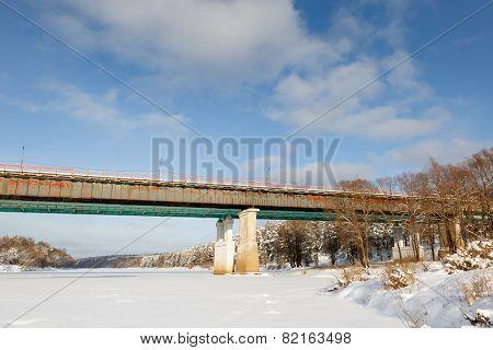Winter view of  bridge