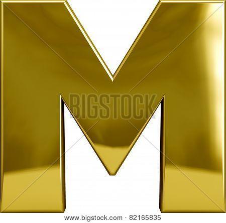 Gold Metal Letter M