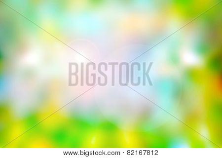Colourful Blurred Spring Background