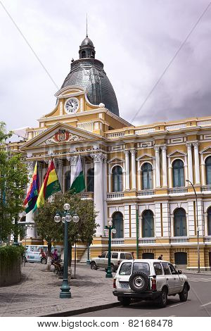 Legislative Palace on Plaza Murillo in La Paz, Bolivia