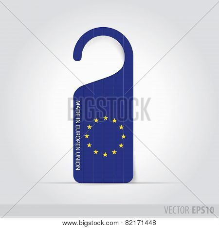 Made In Europen Union  Tag For Door