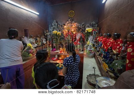 Saigon, Vietnam - January 27, 2014: Altar In Emperor Jade