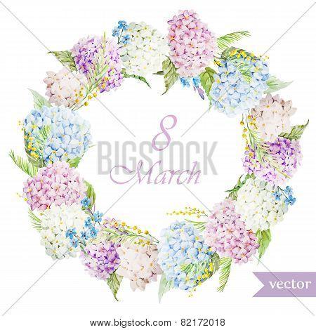 March 8, hydrangea, wreath, flowers4