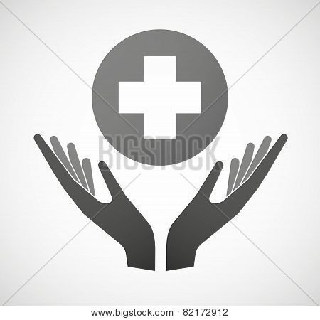 Two Hands Offering A Syringe
