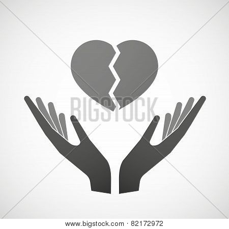 Two Hands Offering A Heart