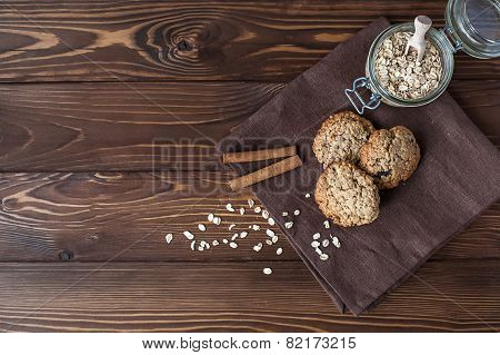 Oatmeal Cookies, Close-up